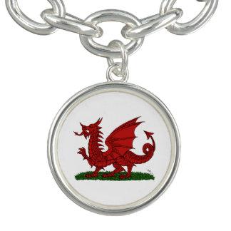Röd drake av Wales Berlockarmband