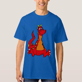 Röd drakeT-tröja för förtjusande tecknad T Shirt