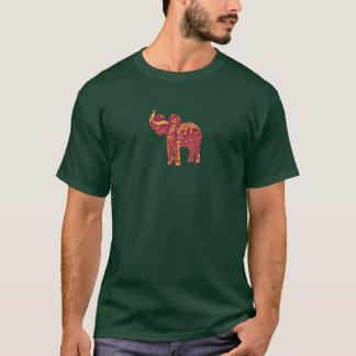 Röd elefant t-shirt