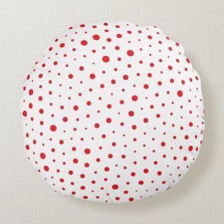 Röd elegant modern polka dots - skräddarsy BG Rund Kudde