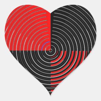 Röd energi Chakra - svarten för silver n görar Hjärtformat Klistermärke