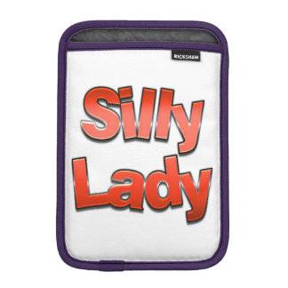 Röd enfaldig dam sleeve för iPad mini