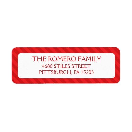 Röd enkel randanpassningsbarpersonlig returadress etikett