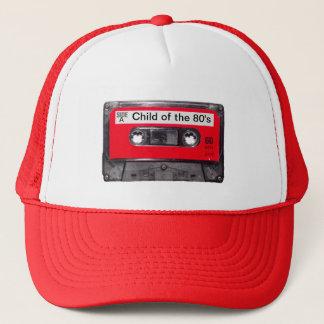 röd etikettkassett för 80-tal keps