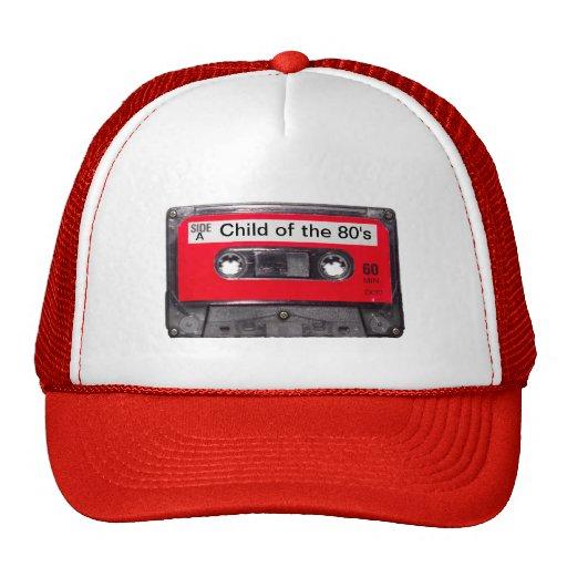 röd etikettkassett för 80-tal mesh kepsar