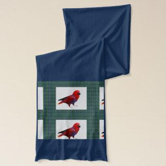 Röd fågelpapegoja: GÅ SPRINGASHOWOFFEN Halsduk