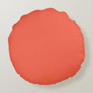 Röd fast färg för tomat rund kudde