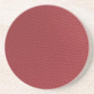 Röd Faux texturerat läder Underlägg