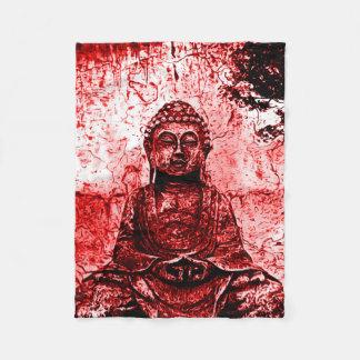 Röd filt för Buddha Grungekonst