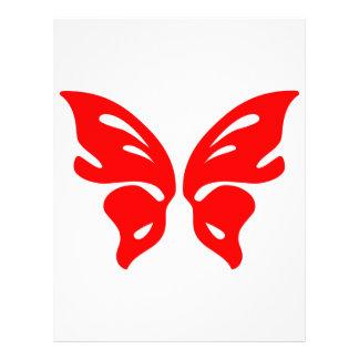 Röd fjäril brevhuvud