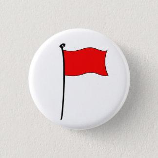 Röd flagga: knäppas mini knapp rund 3.2 cm