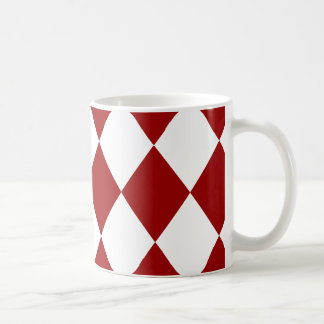 Röd ~ för DIAMANTMÖNSTER in DJUPT - Kaffemugg