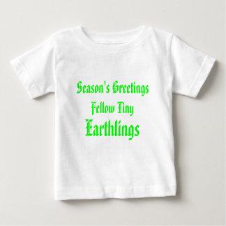 """Röd """"för med- Earthlings"""" rolig/grön god jul T-shirts"""