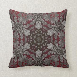 röd för renaissance gotisk metallisk och svart kudde