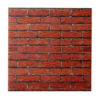 Röd ~ för tegelstenvägg för kakelplatta