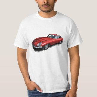 Röd för vintagesportbil för jaguar XKE T-tröja Tee Shirts