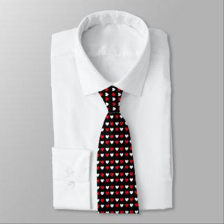 Röd & för vithjärtor svart för valentin för nacke slips