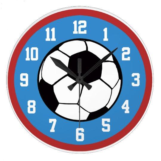 Röd fotboll och blått stor klocka  0e60b6368defa