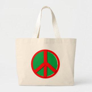 Röd fred - som är grön och tygkasse