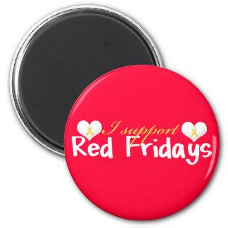 Röd fredagmagnet magnet