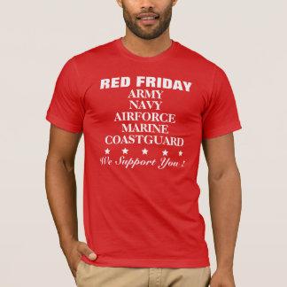 Röd fredagservice gå i skaror den röda T-skjortan Tshirts