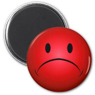 Röd Frownie ansiktemagnet Magneter