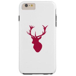 Röd fullvuxen hankronhjorthuvudjul eller svensexa tough iPhone 6 plus fodral