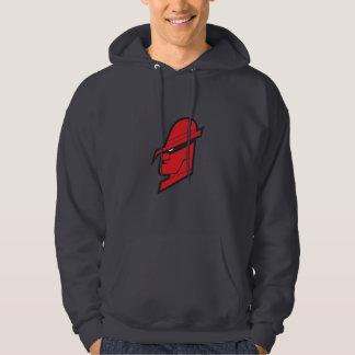 Röd gangster sweatshirt med luva