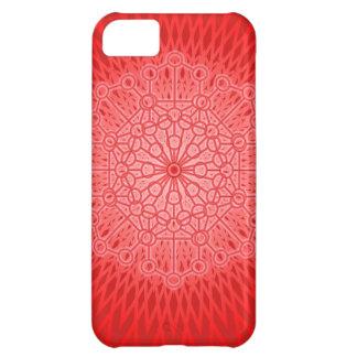 Röd geometri för Chakra Mandalahelig iPhone 5C Fodral