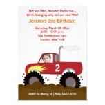 (Röd) gigantisk inbjudan för lastbilfotofödelsedag