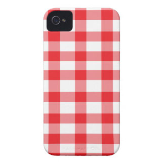 Röd Gingham Case-Mate iPhone 4 Fodraler