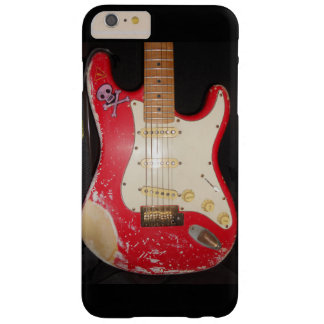 Röd gitarr barely there iPhone 6 plus fodral