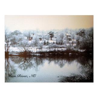 Röd glidbana 1960, Hawflod, NC Vykort