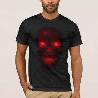 Röd glödande skalle t-shirt