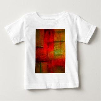 Röd grön konst för Browny gultabstrakt T Shirts