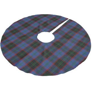 Röd grön Tartan för skotsk svart för klanhemblått Julgransmatta Borstad Polyester