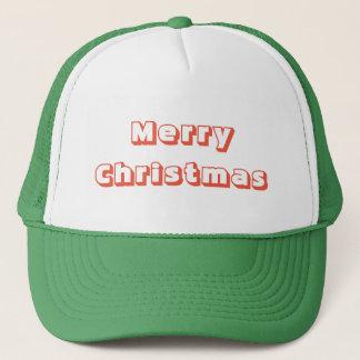 Röd grönt för god jultruckerkeps keps