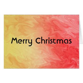 Röd gul struktur för jul hälsningskort