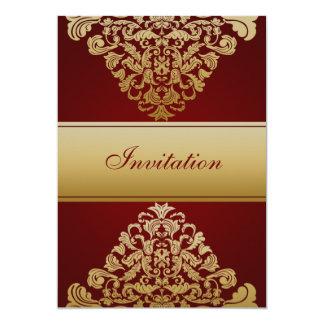 röd guld- elegansbröllopinbjudan personliga inbjudningskort