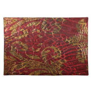 Röd guld- läderstruktur för Grunge Bordstablett