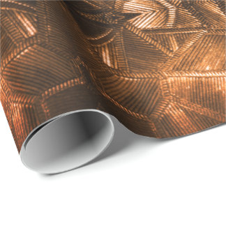 Röd guld- Sheen elegant texturerad Glass Look Presentpapper