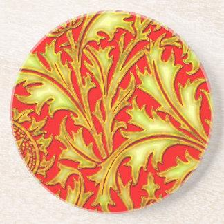 Röd guld- Thistle Underlägg Sandsten