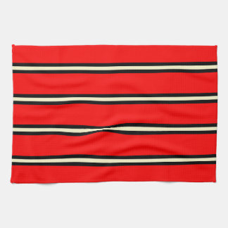 Röd handduk -, svart, citronChiffon Kökshandduk