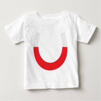 röd hästskomagnet t shirt