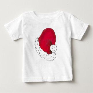 Röd helgdag för julafton för jultomtenhattgod jul tshirts