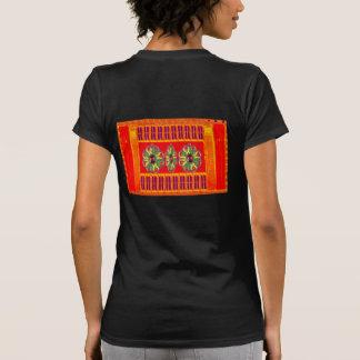 Röd helig färgenergi för saffran som läker juvlar t shirts