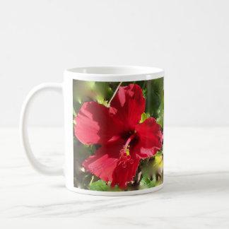 Röd hibiskus Hawaii Kaffemugg