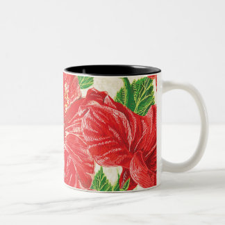 Röd hibiskus Två-Tonad mugg