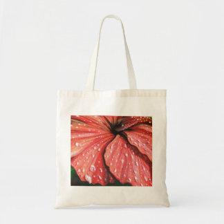röd hibiskus tygkasse