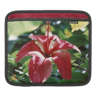 Röd hibiskusipad sleeve sleeve för iPads